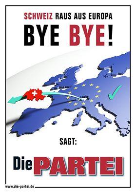 """Bundesweite Großdemo """"Schweiz raus aus Europa!"""""""