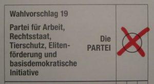 Stimmzettel Die PARTEI