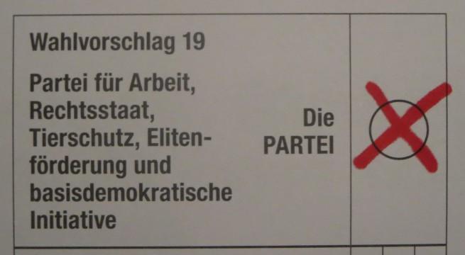 Hessen wählt – und zwar Die PARTEI