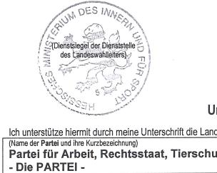 Unterstützer-Formulare zur Landtagswahl sind da!
