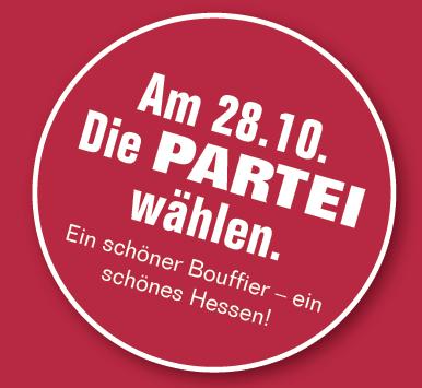 Die PARTEI geht mit Spitzenkandidat Mario Bouffier und 18 Direktkandidaten in den Landtagswahlkampf